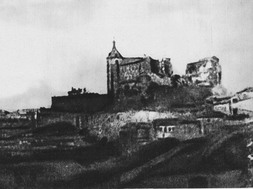 Alcázar de Toledo durante el asedio de 1936