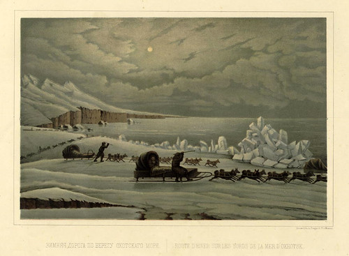 Ruta de Invierno a lo largo de la costa del Mar de Ojotsk