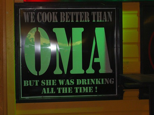 We cook better than Oma