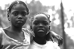 Goba... again an again. Two girls portrait. Mozambique, Africa. (E. B. Sylvester) Tags: africa portrait bw girl rural child mozambique afrique vilage goba ebsylvester