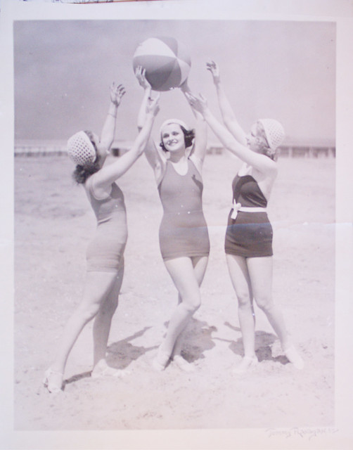 vintage beach scene