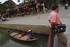 Lady in a boat, Hoi An, Vietnam