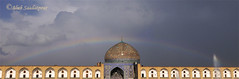 Paradise or what? (Alieh) Tags: blue weather architecture persian rainbow iran sunny persia rainy dome iranian lovely  esfahan sheikh isfahan      sheikhlotfollah lotfollah   aliehs alieh           saadatpour