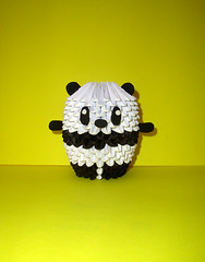 Chubbyz Collection - OREO the Baby Panda 3D Origami Model (origamiboutique) Tags: bear white black paper 3d origami panda handmade bamboo modular pandabear babypanda modularorigami 3dorigami