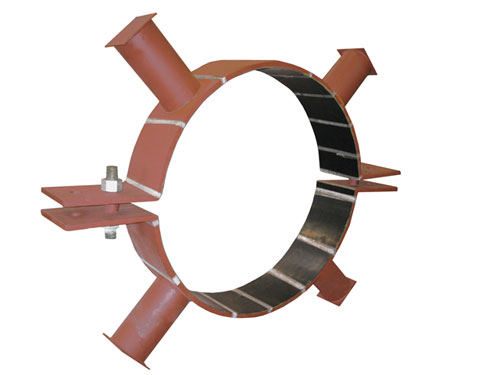 """Riser Clamps with Neoprene Lining for 54"""" FRP Pipe"""
