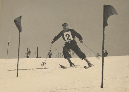 snow skiing competition skiier statelibraryofvictoria