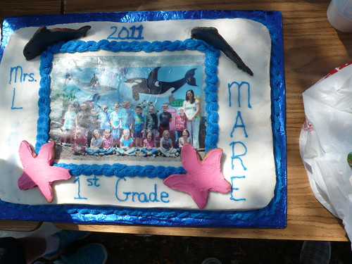 Sparky's class cake on the last day of school