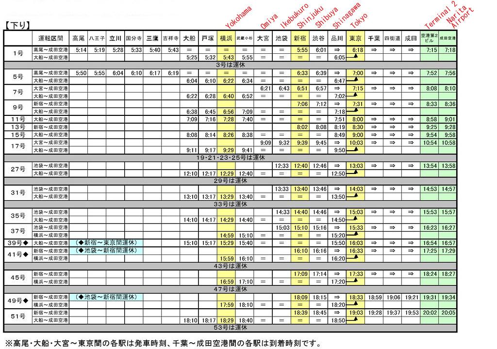 nex_timetable0002 nrt bound
