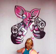 g r a f (Birmingham Phil) Tags: urban streetart pasteup bristol graffiti stencil sticker mural tag graf banksy tags spraypaint cans aerosol stickup stokescroft canz upfest upfest2011