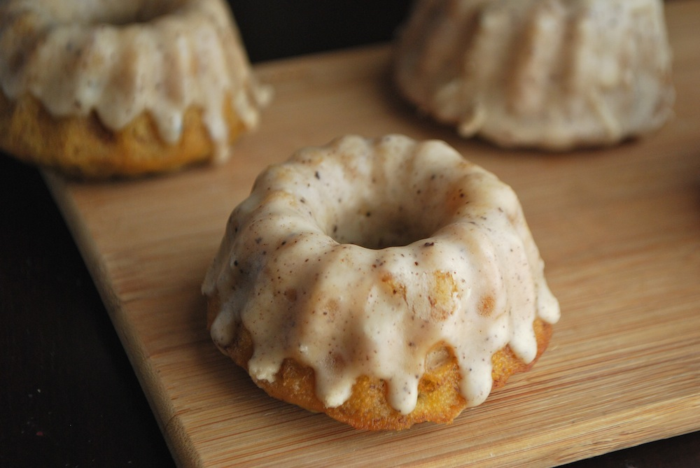 Banana Rosemary Baby Bundt Cakes w/ Rosemary Brown Butter Icing