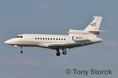 N711T (bwi2muc) Tags: plane airplane nikon aircraft falcon bwi dassault thurgoodmarshall bwiairport baltimorewashingtoninternationalairport falcon900ex greyfalcon n711t bwimarshall