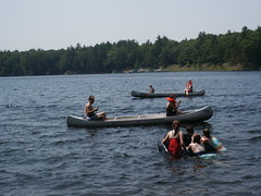 Father Daughter canoeing (hfcampcherith) Tags: girls lake 1 site father daughter canoeing activities