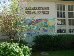 mural done on tiles (BROKEN WING PRODUCTIONS) Tags: school mural winters johnclayton