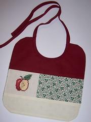 Apple Bib (Fox & Feathers) Tags: baby apple crossstitch bib patchwork spinningpretty