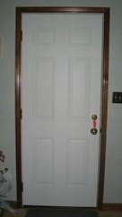 New door to the garage