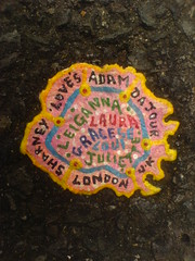 Ben's chewing gum art  - DSC01663 (rahid1) Tags: road street streetart macro london gum graffiti pavement chewinggum graff haringey muswell muswellhill chewinggumman coolpix3100 benschewinggumart benwilson