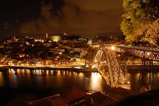 Rio Douro e Porto à noite