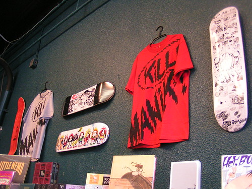 Peter Bagge Manik Skateboards launch party, Fantagraphics Bookstore & Gallery, 5/17/08