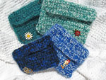 Small Crocheted Coin Purses with Vintage Jewelry Accessories