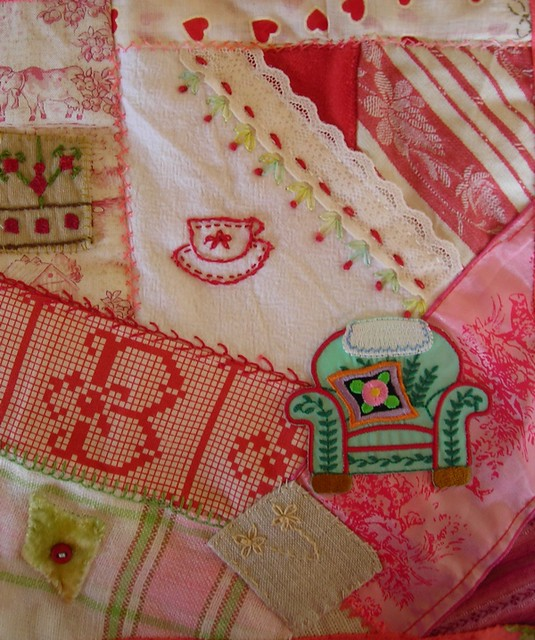 sewing crazyquilt shabbychic
