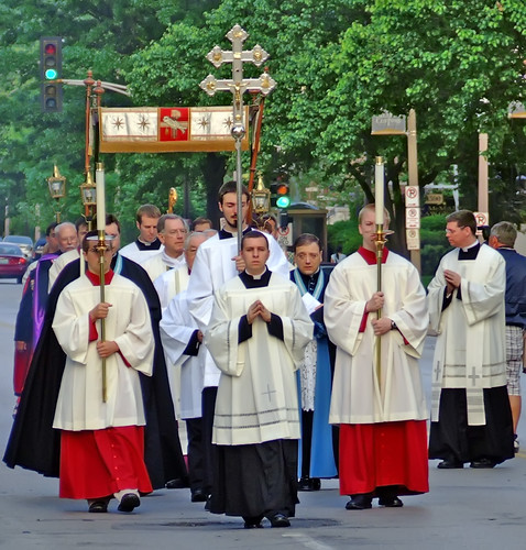 Corpus Christi procession 2008, of the Cathedral Basilica of Saint Louis, in Saint Louis, Missouri, USA - Procession 2