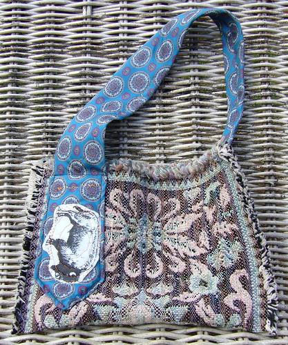 recycled buffalo fabric purse