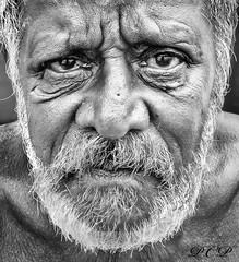A face of '70' (P.C.P) Tags: portrait blackandwhite bw details tamilnadu pcp blackwhitephotos tamilculture 100commentgroup memorycornerportraits pcpsk59