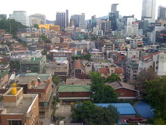 Downtown Seoul, South Korea, from Hotel Window