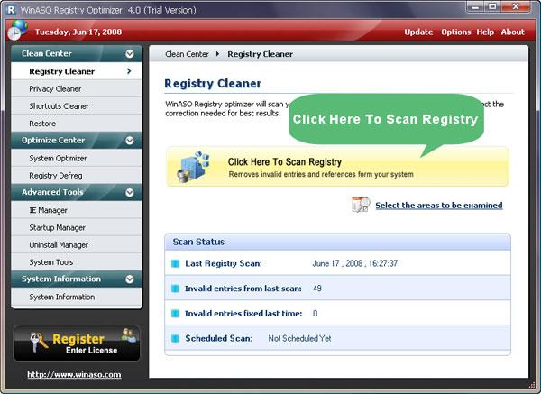 WinASO Registry Optymizer 3.2