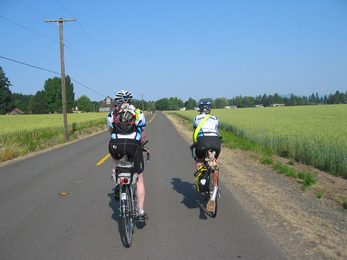 Jason and Cecil heading through the wheatfields