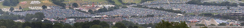 Panoramic view of Pilton Festival 2008 - 1