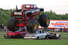 Bandit Monster Truck at Scott May's Daredevil Stunt Show, Musselburgh, Edinburgh