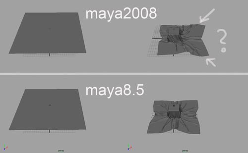 CGTalk | Ncloth Maya 2008 bug?