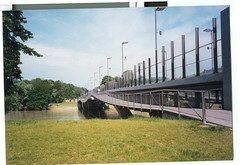 ingolstadt (phenotyp) Tags: bridge film public germany flood good olympus 1999 scan stylus danube ingolstadt