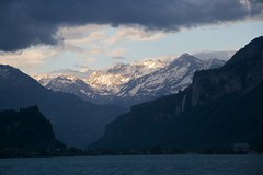 Mountains beyond Lake Brienz