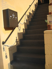 Steps with painted Swag (bookish in north park) Tags: california stairs sandiego steps escaleras hillcrest