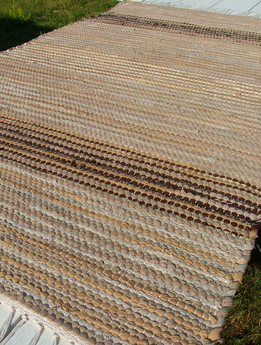 Neutral territory -- hand-woven rug