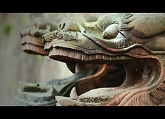 Feng Huang Dragons (Michael Steverson) Tags: china sculpture canon river dragons games explore chinadigitaltimes feng allrightsreserved hunan jiang expatriate huang tuo 40d expatriategames