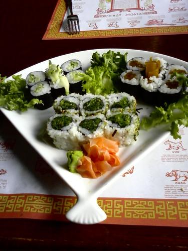 Veggie sushi platter