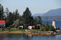 Canadian Lighthouse (British Columbia, Canada) (Joe Ruffles) Tags: lighthouse canada flag mapleleaf gps canadianflag ocanada beautifulbritishcolumbia evenatheistscallthisgodscountry
