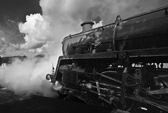 'The Cambrian' Setting Off (Oliver Wood Photography) Tags: railroad blackandwhite classic wales mono trains heavymetal 1957 classical steamengine heavymachinery traindriver powys 260 mogul steamlocomotive briefencounter 4mt enginedriver machynlleth britishrailways steampower sigma1020 standardclass thecambrian iconicimages 76079 ukrailways heritagerailways railroadengineer nikond80 leviathans classicimages cambriancoastexpress horwichlocomotiveworks heatonmerseymotivepowerdepot masculineforms powerfulmachines