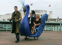 Renaissance Swan (Renaissance Couture) Tags: blue swan brighton council renaissance carfreeday