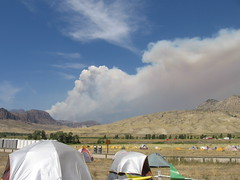 Wind-Driven Plume (slashvee) Tags: wyoming 2008 wildfire gunbarrel