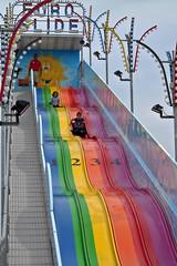 Chunguita & Pulguito on the slide