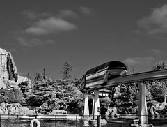 Disney - New Monorail Red Over Nemo Subs - HDR / Pseudo Infrared (Express Monorail) Tags: california morning blackandwhite bw motion reflection water wonder geotagged moving raw ride disneyland f14 magic details dream sigma kingdom disney mickey pop submarine fantasy future mickeymouse infrared imagine theme imagination wish orangecounty monorail anaheim walt tomorrowland 2008 magical neptune dl dlr hdr highdynamicrange themepark magickingdom attractions subs waltdisney wdi 30mm disneylandresort imagineering monorailred markvii disneyparks 81608 expressmonorail findingnemosubmarinevoyage disneyride dynamicphotohdr waltdisneyimagineering waltereliasdisney nikond300 paintshopprophotox2 disneyphotochallenge july32008 joepenniston disneyphotography august162008 geo:lat=33812711 geo:lon=117917048 june141959 burkecompositedesign
