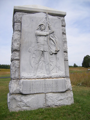 Monument for the Michigan 4th at Gettysburg