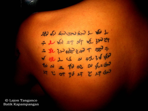 baybayin tattoos. Tags: tattoo tribal ethnic