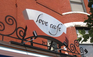 Love Cafe Sign