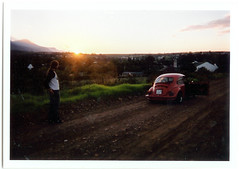 Country road trip sunrise (mallix) Tags: africa road park ca trip morning red summer vacation sky holiday film beauty standing sunrise southafrica drive town driving break time farm bruce parking country watch watching beetle peak roadtrip scratches farmland fresh flare parked rays 1970 worldcup moment dust 1980 stillness gravel daybreak 2010 swellendam overberg volkswagenbeetle farmlands soccerworldcup worldcup2010 mallix fifa2010