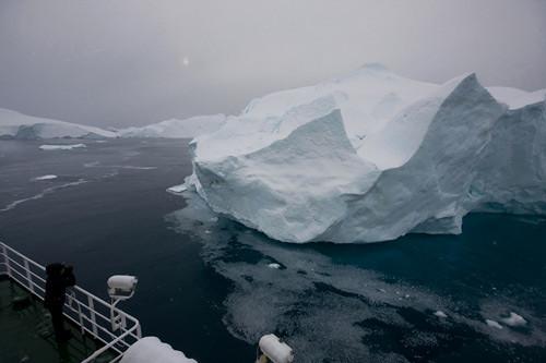Diminishing Ilulissat Kangia icebergs